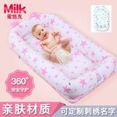 便攜式床中床初生寶寶嬰兒床兒童床布藝床墊新生兒仿生設計游戲床 艾尚旗艦店