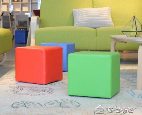 凳子茶幾凳實木擱腳凳皮凳儲物凳試換鞋凳矮凳收納沙發凳墩子igo「多色小屋」