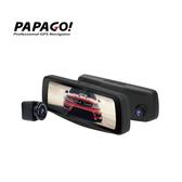 【旭益汽車百貨】PAPAGO RAY 電子後視鏡前後鏡頭行車紀錄器+64G記憶卡