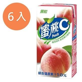 黑松蜜桃C維他命C綜合果汁飲料300ml(6入)/組【康鄰超市】