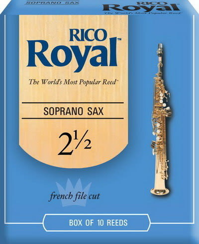 【金聲樂器】美國 RICO Royal Soprano Sax 2.5號 高音 薩克斯風 竹片 10片裝