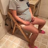 實木坐便椅木頭孕婦老人蹲便凳移動座廁坐便器殘疾馬桶