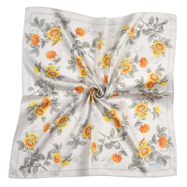WEDGWOOD太陽花圖案純綿帕領巾(淺灰色)989219-75