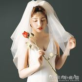 何止于美《甜心》頭紗旅拍寫真結婚旅行小白紗頭飾新娘造型頭紗 晴天時尚館