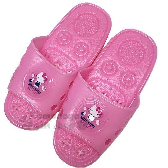 〔小禮堂〕Hello Kitty 矽膠簍空浴室拖鞋《亮粉.物品》陽台拖.室內拖 713909-23457