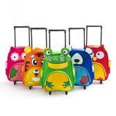 拉桿書包 新款兒童書包 兒童卡通小學生拉桿減壓書包 兒童行李包 igo 珍妮寶貝