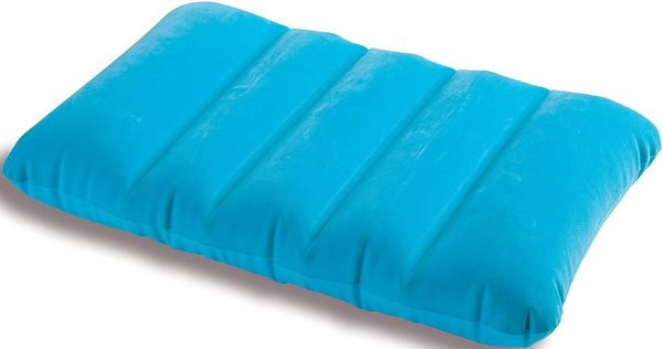 [衣林時尚] INTEX 充氣枕頭(藍)  充氣墊 靠墊 坐墊 43CM X 28CM X 9 CM 可清洗   68676