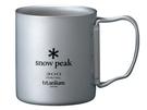 [好也戶外]snow peak SP鈦金屬雙層杯-300折疊把 No.MG-052FHR