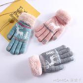 手套 兒童五指棉手套冬季男童女童6-10歲保暖加絨加厚女孩男孩卡通可愛  莫妮卡小屋