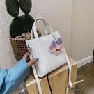 手提包包新款潮質感洋氣百搭斜背包包女果凍超火時尚單肩包【全館免運】