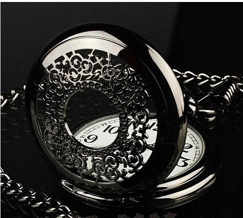 個性禮物鏤空復古懷表男翻蓋創意情侶學生女石英非機械手錶女 滿天星