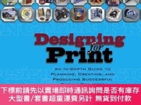 二手書博民逛書店The罕見Designing For PrintY256260 Conover, Charles John W