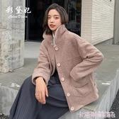 2020秋冬新款韓版羊羔毛外套女短款皮毛一體仿羊絨小個子外套女 新年慶