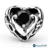 鋼耳環 ATeenPOP 暗黑之心 栓扣式 兩面皆可戴 抗過敏鋼耳針*單邊單個價格*