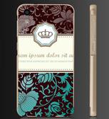 ✿ 俏魔女美人館✿ 【深色皇冠*金屬邊框】htc 728手機殼 手機套 保護套 保護殼