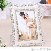 復古經典歐式婚紗影樓小玫瑰花擺 相框創意結婚禮物6/7/8/10寸QM    橙子精品