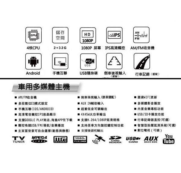 【專車專款】2001~07年TOYOTA ALTIS專用9吋觸控螢幕安卓多媒體主機*藍芽+導航+安卓四核心2+32促