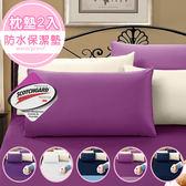 暖暖咻咻【時尚系列】3M吸濕排汗防水透氣網眼布//枕頭專用保潔枕墊2入//多款可選
