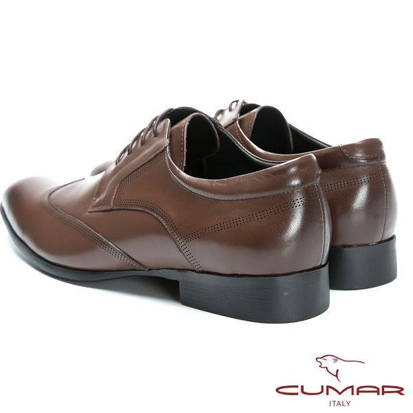 CUMAR 英式牛津款皮革正式皮鞋-咖啡色