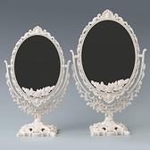化妝鏡 臺式鏡子桌面梳妝鏡家用臥室女大號美妝雙面北歐歐式公主鏡【快速出貨八折下殺】