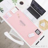 桌墊 韓國簡約電腦辦公桌墊多功能收納桌墊寫字墊大號鼠標墊學生票據墊 YXS 美斯特精品
