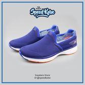 SKECHERS 懶人鞋 Go Walk Sport 藍橘 編織 記憶鞋墊 男 54140BLU【SP】