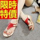 涼鞋平底華麗-新款透氣夏季休閒女拖鞋子3色54l51【巴黎精品】