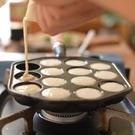 鑄鐵章魚小丸子鍋章魚燒機家用燒烤盤鵪鶉蛋蝦扯蛋模具電磁爐不粘 WJ3C數位百貨