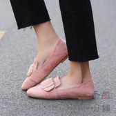 平底單鞋豆豆鞋一腳蹬單鞋大碼女鞋【南風小舖】