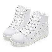 PLAYBOY 晶鑽高筒 內增高休閒鞋-白(Y5222)
