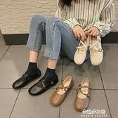 娃娃鞋 日繫軟妹淺口單鞋女春季新款百搭娃娃鞋森繫復古平底瑪麗珍鞋 【母親節特惠】