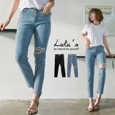 LULUS-Y-腿割破單膝破壞牛仔長褲S-XL-2色  現+預【04011195】
