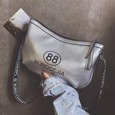 寬帶大包包女2018新款潮大容量波士頓女包歐美時尚百搭單肩斜挎包