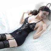 情趣女蕾絲吊帶絲襪套裝性感緊身透視連身衣包臀網衣女傭制服
