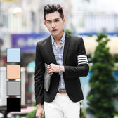 男 西裝外套 L AME CHIC 韓國製 小劍領TB四槓造型窄版修身西裝外套【DTBL040501】