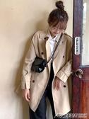 新款長袖風衣外套中長款小個子女裝寬鬆大衣初秋百搭   潮流前線