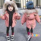 2018冬裝新款嬰兒洋氣女寶寶加厚棉衣棉襖女童羽絨棉服中長款外套