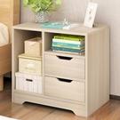 床頭櫃 床頭櫃置物架簡約現代小型臥室經濟型收納櫃仿實木儲物簡易小櫃子 2021新款
