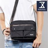 74盎司 側背包 台灣製造經典素面雙口袋側背包 [G-164] (側背)