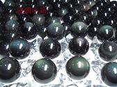 頂級4A彩虹雙面黑曜石眼球22mm墨西哥當地精緻研磨*帶雙眼*天地眼
