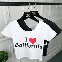 夏裝 露臍 短袖T恤