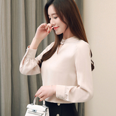 襯衫女職業韓范2020新款春季時尚氣質長袖立領工作服上衣襯衫