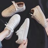 帆布女鞋時尚韓版百搭平底休閒運動板鞋【愛物及屋】