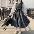 ins連衣裙女春夏季韓版寬松顯瘦小清新學院風白襯衣 中《蓓娜衣都》