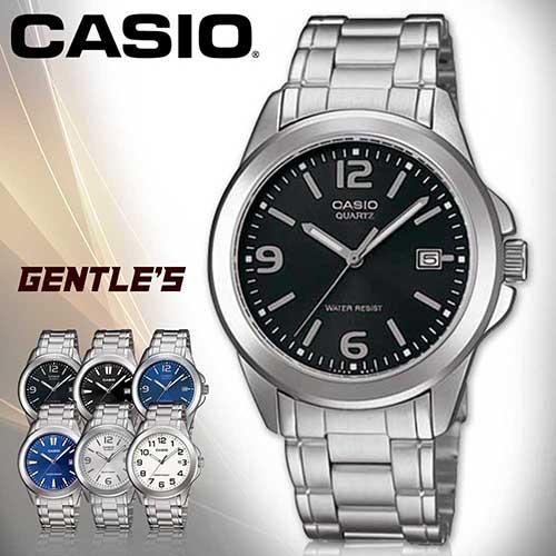 CASIO手錶專賣店 卡西歐  MTP-1215A-1A 男錶  指針 數字 礦物玻璃  日期顯示 三折不繡鋼錶帶