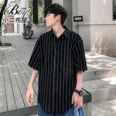 男襯衫 文青風條紋短袖襯衫【NW639022】