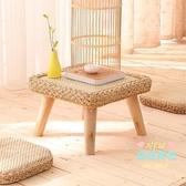 飄窗藤編桌 現代日式簡約藤編草編地坐式飄窗小茶幾炕桌榻榻米茶台炕幾矮桌子T