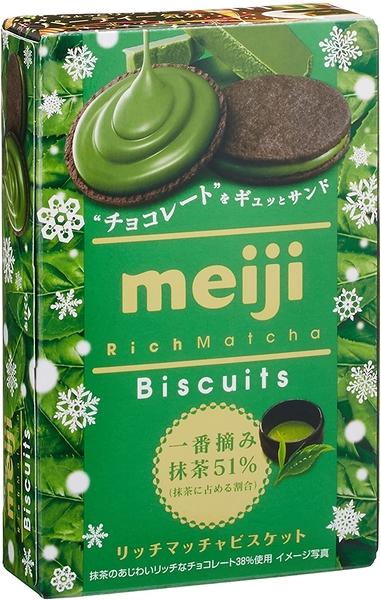 明治香濃抹茶巧克力夾心餅乾 一盒6片