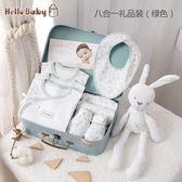 滿月禮盒 新生的兒寶寶衣服初生嬰兒純棉套裝禮盒送禮高檔用品0-3個月 魔法空間