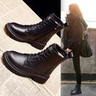 馬丁靴女英倫風2020年新款秋冬季加厚爆款靴子短靴馬丁靴一米陽光